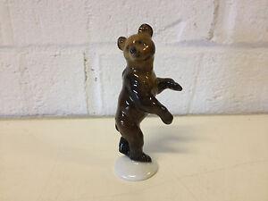 Rare Vintage German Rosenthal Max Fritz Design Bear Cub Porcelain Figurine 1028