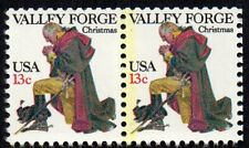 1729 13¢ Valley Forge Christmas yellow streak MNH