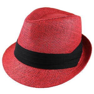 Gelante Unisex Summer Fedora Panama Straw Hats with Band (Ship in a BOX)