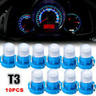 10pcs Blue T3 Neo Wedge LED Instrument Cluster Dash Panel Climate Light Bulbs  for sale