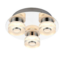 Saxby 68911 RITA Round Chrome Plate 3 LED/RGB Dimmable Semi Flush Ceiling Light