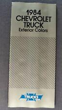 1984 Chevrolet Truck Paint Chip Colors Brochure Pickup Blazer Suburban El Camino