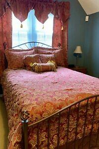 Croscill Bellissima Queen Comforter Set plus Curtain Panels and valances