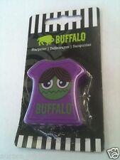 Buffalo Original Purple Monster Face T-Shirt Plastic Pencil Sharpener Wa54419