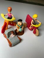 4 flintstones figures. McDonalds Happy Meal toys