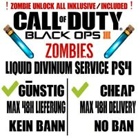 Black Ops 3 Liquid Divinium Service PS4💥 + ZM Unlock All🔥 READ DESCRIPTION❤
