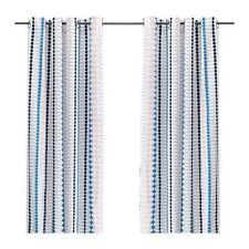 Brand New Ikea Mossflox Curtains Multicolor 57 x 98 2 Panels 003.086.36