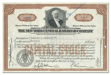 New York Central Railroad Company Stock Certificate