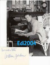 WILLIAM JORDAN Vintage Original Photo & RARE AUTOGRAPH Card & Envelope Clipping