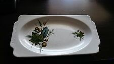 Vintage Alpine Wood and sons White Ironstone SHERWOOD Serving plate England