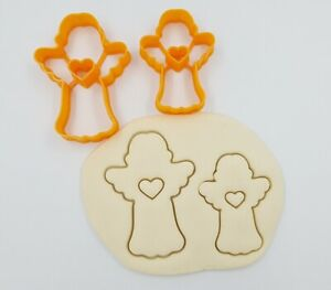 Christmas Cookie Cutters Set of 2 Angels - Xmas Biscuit Dough Icing Shape