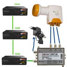 DUR line UCP 30 Unicable Router Splitter Einkabellösung für 3 Sat Receiver 4k HD