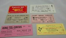CIRCUS VINTAGES TICKETS LOT OF 6 HUNT BROS THE COLE KING BROS GREAT AMERICAN