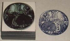 Two Dragons drawn by William Blake rubber stamp