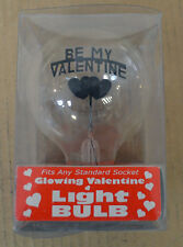 VINTAGE HEART Be My Valentine Glow GLOWING BULB LIGHT LAMP Lupine