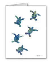 Baby Sea Turtle Note Cards With Envelopes