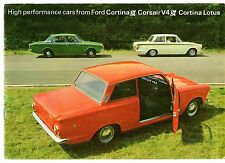 Ford Cortina Mk1 GT Cortina Lotus & Corsair V4 GT 1965-66 UK Market Brochure