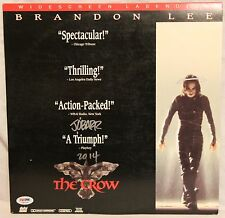 "JAMES O'BARR Signed ""The CROW"" Brandon Lee Movie Laser Disc PSA/DNA #X82436"