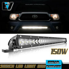 30inch Single Row LED Work Light 150W Hidden Grille For Toyota Tacoma/Tundra