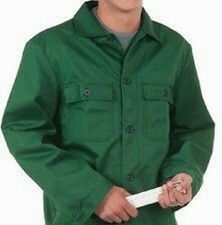 Arbeitsjacke Arbeitshemd Gärtner Grün Baumwolle 100 % XL