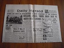 WW2 WARTIME NEWSPAPER - DAILY HERALD - SEPTEMBER 22nd 1942