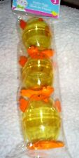 """Pkg.of 3 Large Fillable Easter Chicks in Yellow and Orange-2.25""""Wx3.5""""T"""
