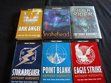 6 ALEX RIDER by Anthony Horowitz STORMBREAKER Point Blank SNAKEHEAD Ark Angel