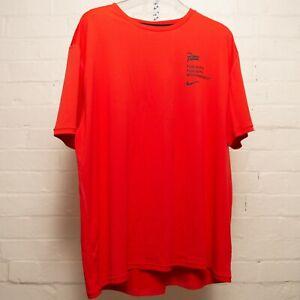Nike Patta T Shirt Publicity Habanero Red Size XXL Extra Extra Large