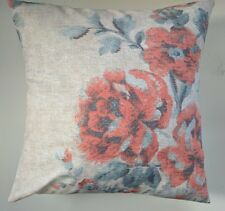 """Cushion Cover in Next Coral Maytown Floral 16"""" Matches Curtains"""