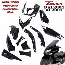 KIT 12 PEZZI CARENA T MAX TMAX 500 2001/2007 NERO LUCIDO, CARENE VERSIONE SPORT