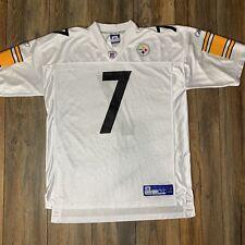 00f0d8068 Reebok Pittsburgh Steelers Ben Roethlisberger  7 White Jersey Sz XL