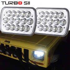 7X6 Inch 27450C Pair Of Rectangular LED 5X7 GM Ford Van Jeep XJ YJ Headlights