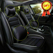 Universal 5-Seats Car Pu Leather Seat Cover+Cushion Deluxe Front Rear Protector