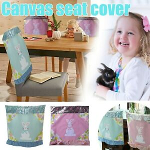 Easter Day Chair Covers Rabbit Chair Back Covers Chair Protector Cover Slipcover