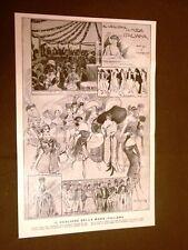 Carnevale Milano nel 1910 Teatro Alla Scala Veglione moda + Angelo Mojorana