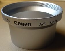 New 52mm Silver Lens Adapter Ring Tube for Canon PowerShot A55 A60 A70 A75 A85
