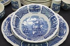 "(1) Meakin FAIR WINDS 8 1/2"" Serving Bowl Historical Scenes of Chinese Export"