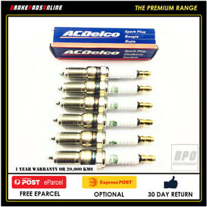 Spark Plug 6 Pack For Ford Territory SX 4.0L 6 CYL Barra 182 10/2002-6/05 41629