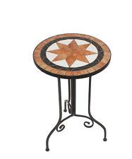 Mosaik Beistelltisch Dekotisch rund Mehrfarbig 38x56x38 cm Tisch Pflanztisch
