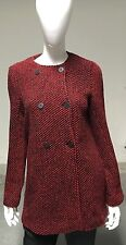 NWT WOMEN'S JOES JEANS RED WOOL BLEND VIOLA SWEATER JACKET SIZE MEDIUM