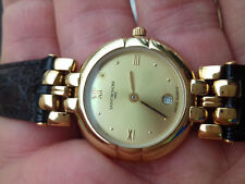 SAINT-HONORE VINTAGE 732193.3 NOS WATCH FOR PIECES-REPAIR 18 GOLD ELECTROPLATED