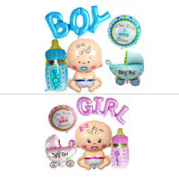5pcs Foil Baby Shower Balloons Birthday Party Decorations Boy Girl Pink Blue Kit