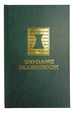 HARDCOVER CHESS SCORE-BOOK - MARBLE GREEN - 100 GAMES - MADE IN USA