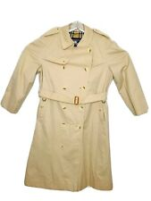 VINTAGE MENS 60s BURBERRY TRENCH RAIN COAT BEIGE USA MADE NOVA CHECK US SZ 46