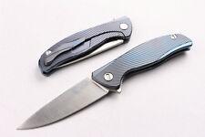 CNC Full TC4 titanium alloy handle D2 Blade high-end Camping Folding Knife Z19