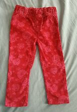 Young dimension primark pink floral cord baby girl trousers size 18-24