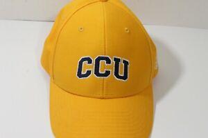 CCU Logo Cap Adidas  Baseball  Hat Yellow Adjustable (16)