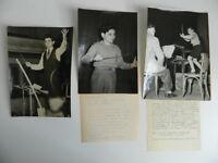 Alain Lombard Chef Orchestra Timbro Stampa Lotto 3 Foto Originale Trapez 1952