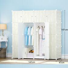 12 Cube Storage Cabinet Portable Wardrobe Shoe Rack Shelf Wood Grain Cupboard