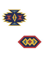 Blue SouthWest South Western Native 25 Wallies Wallpaper Cutouts Stickers Decals